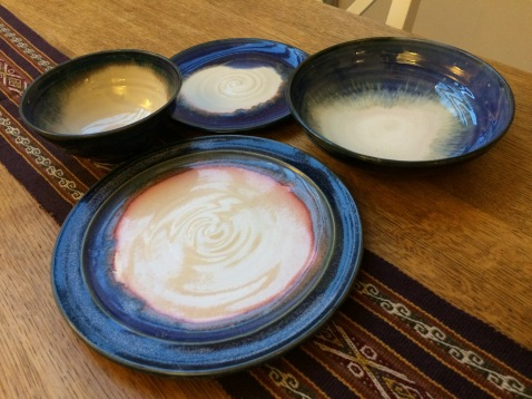 My beautiful plates. A little more expensive than going to John Lewis but having something hand made and individual is very special.