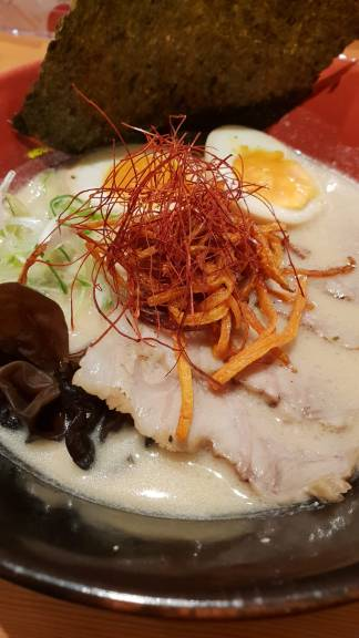 Delicious ramen at Engine Ramen, Kyoto